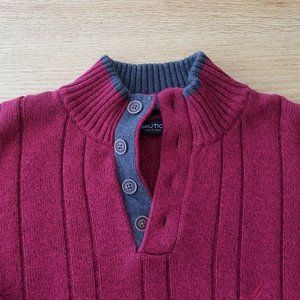 NAUTICA Mens Ribbed Thick Cotton Sweater Size XL